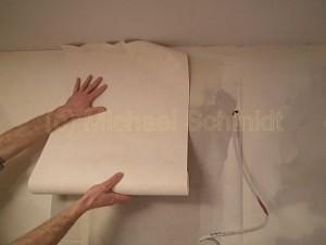 Tapezieren Wand.