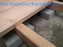 Holzterrasse bauen - Unterkonstruktion