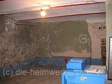 Kappendecke, hier wurden oftmals alte Bahnschienen als Auflieger verwendet.