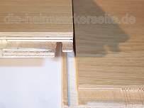Klicklaminat Fold-Down-System