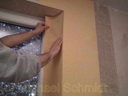 Turbo Fensterlaibung und Fensternische tapezieren › die-heimwerkerseite.de XH28