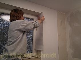 Beliebt Fensterlaibung und Fensternische tapezieren › die-heimwerkerseite.de WD12