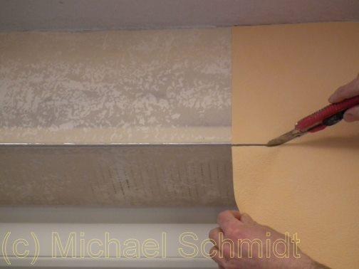 Einschneiden Fensterlaibung - Fensternische.