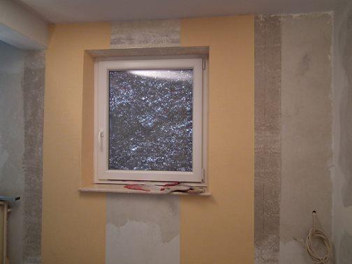 Ansicht Fensterlaibung - Fensternische.