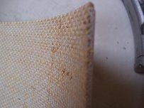 Textiler Rücken bei Linoleum