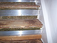 Treppenrenovierung mit Laminat.