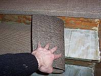 Treppenstufe mit Kleber.
