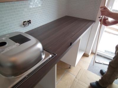 k chenarbeitsplatte zuschneiden und einbauen die. Black Bedroom Furniture Sets. Home Design Ideas
