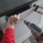 Ikea Schublade - Griffe montieren.