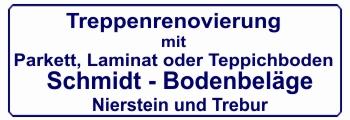 Banner Schmidt Treppenrenovierung