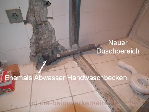Dusche Renovieren Wand : verlaufen die wasserleitungen wand badewanne wand dusche abwasser wc